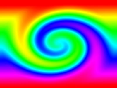 Rainbow swirl background Vector | Free Download
